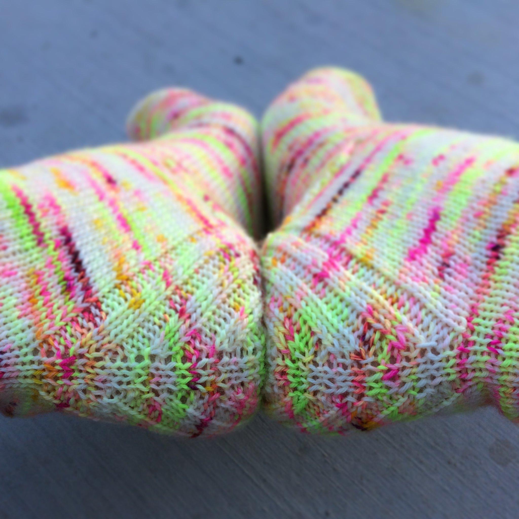 Sock knitting: Vanilla is the new black