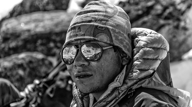 High mountain's Sherpa