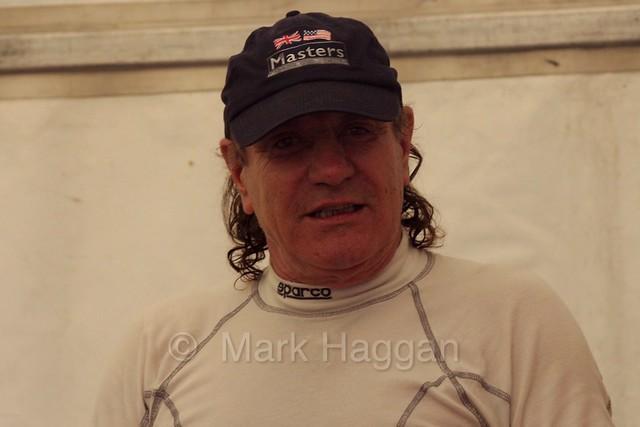 AC/DC's Brian Johnson at the Masters Historic Series at Donington Park, July 2016