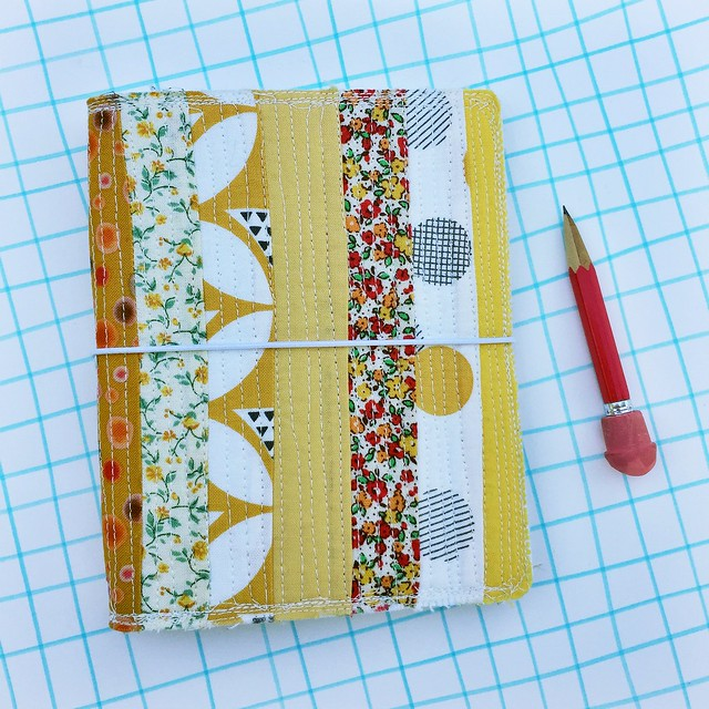 Quilted travel journal covers #fauxdori