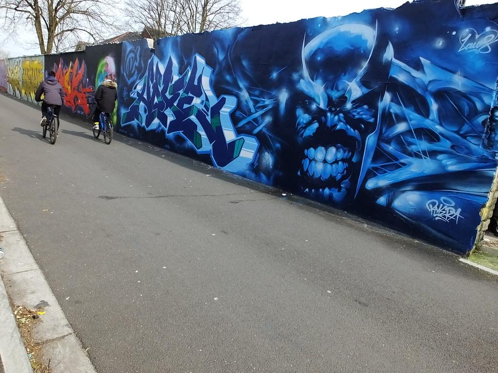 Rmer street art Cardiff