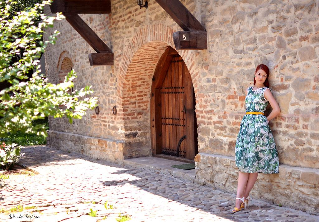 zaful rose dress7