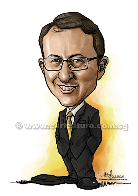 digital caricature for Ernst & Young (watermarked)