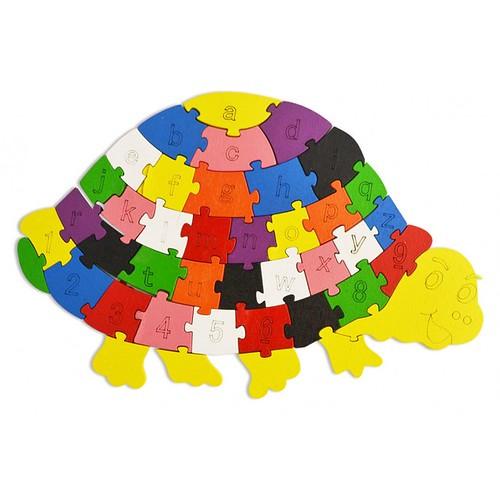 Lắp ghép đồ chơi gỗ - con rùa