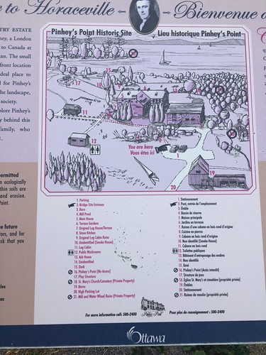 Map of Pinhey's Point Historic Site
