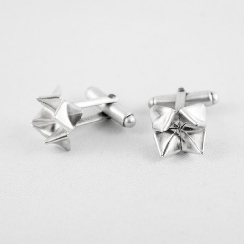 FoldIT Creations Silver Paper Fortune Teller Cufflinks