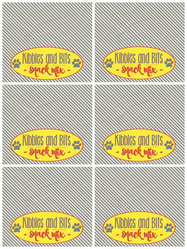 Kibbles & Bits Snack Mix labels.