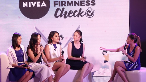 L-R Dr. Charisse Basilio, NIVEA Senior Brand Manager Jamie Sanico, Gretchen Ho, Kim Domingo and host Rizza Diaz.