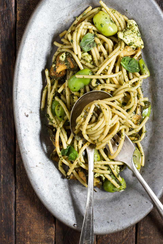 Spaghetti Con Zucchine Fritte