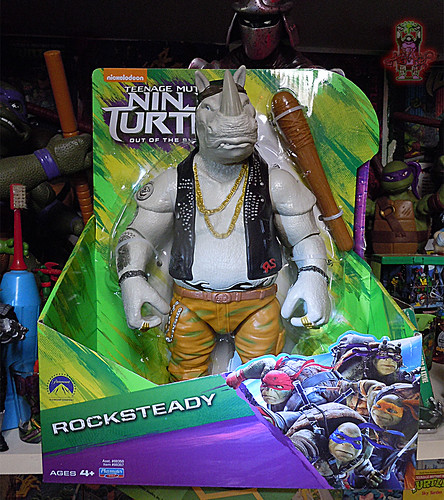 "'TEENAGE MUTANT NINJA TURTLES: OUT OF THE SHADOWS' :: 11"" Movie ROCKSTEADY i (( 2016 ))"