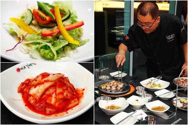Shinmapo Korean BBQ Salad & Kimchi