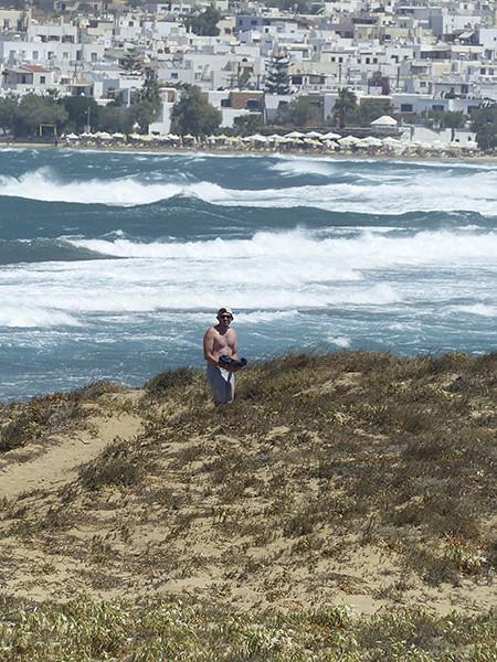 quelques vagues, merci le Meltem