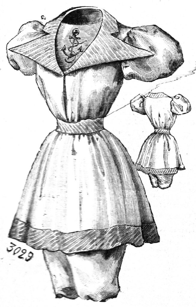 Costume de bain, La Mode Illustrée, 1894