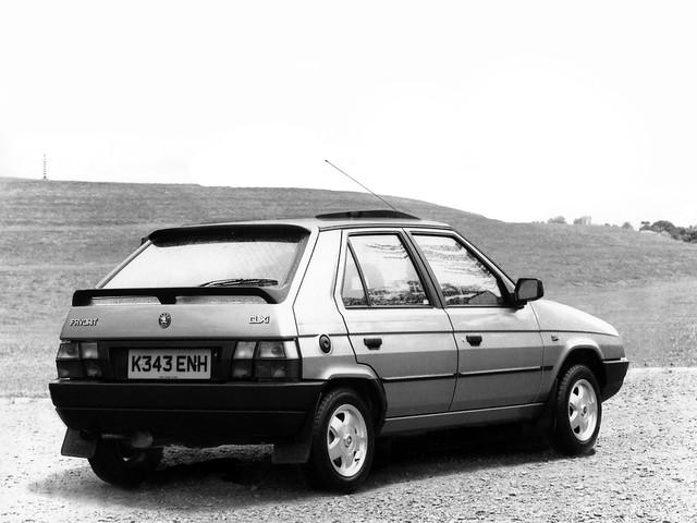 Skoda Favorit Silverline для рынка Британии. 1993 - 1994 годы