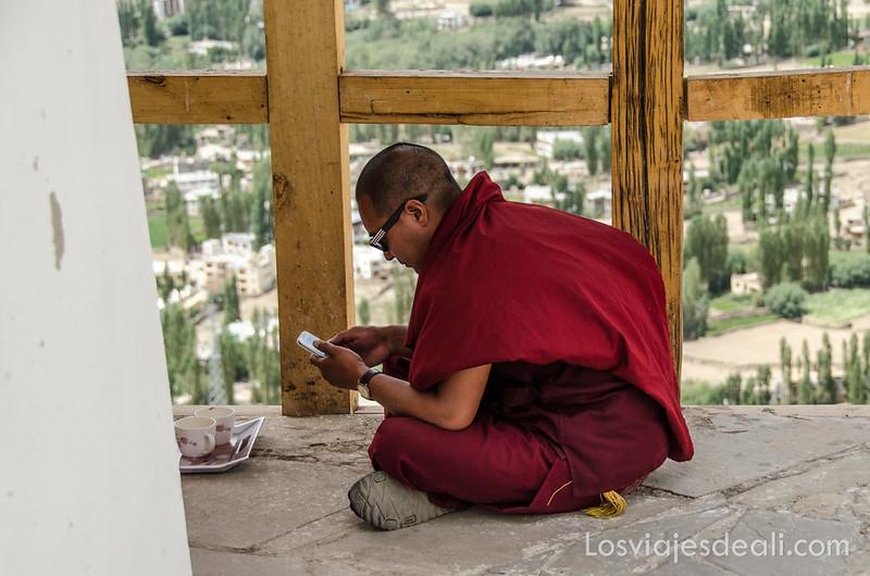monje budista en Leh