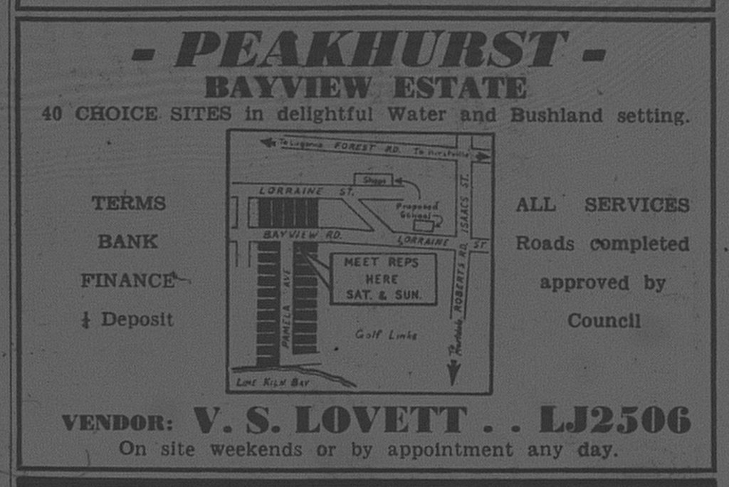 Peakhurst Ad April 14 1962 daily telegraph 48