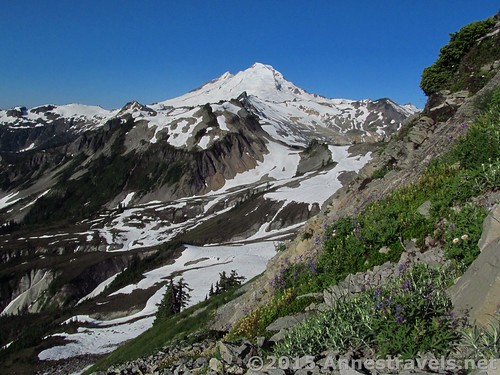 Views while ascending Table Mountain, Mount Baker-Snoqualmie National Forest, Washington