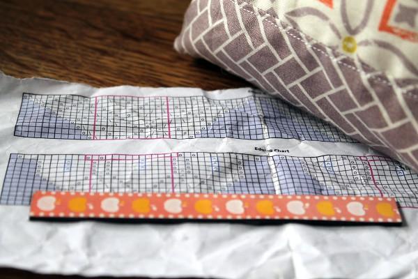 Knitting chart, crumpled - Misericordia