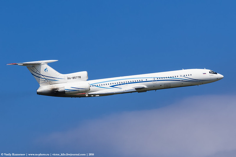 The last Tu-154 flight for Gazpromavia