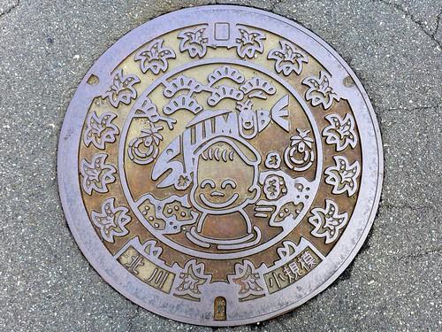 Shimobe Yamanashi, manhole cover (山梨県下部町のマンホール)