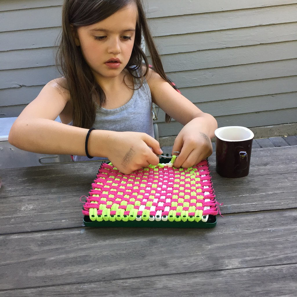 in a serious potholder moment