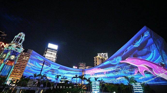 8 香港 閃躍維港 3D光雕匯演