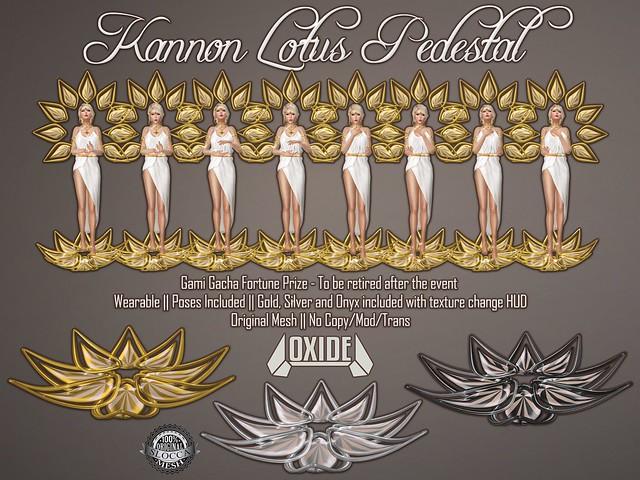 OXIDE Kannon Lotus Pedestal (Gami Gacha Fortune Prize)