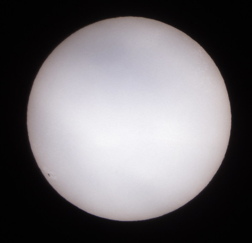 First Light With The Solar Filter Sun Captured Through