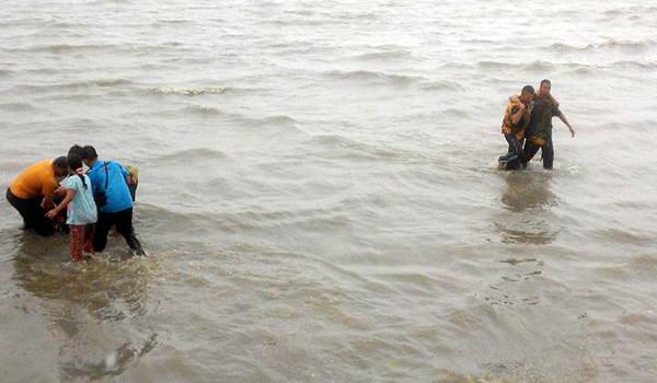 Evakuasi musibah tenggelamnya Pompong Penyengat