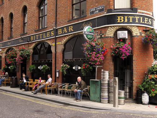 Belfast's Bittles Bar, a 'flat iron' building
