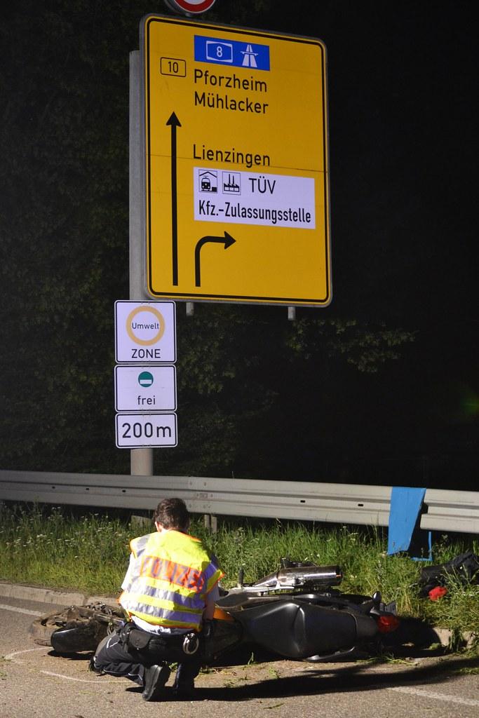 Illingen: Tödl. Motorradunfall zw. Illingen und Mühlacker - 01.07.2016