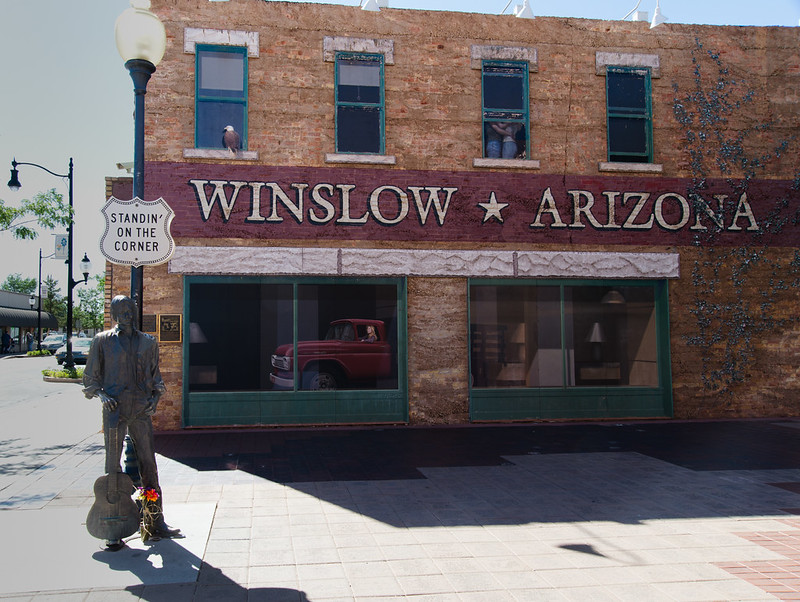 Standing on a corner in Winslow Az