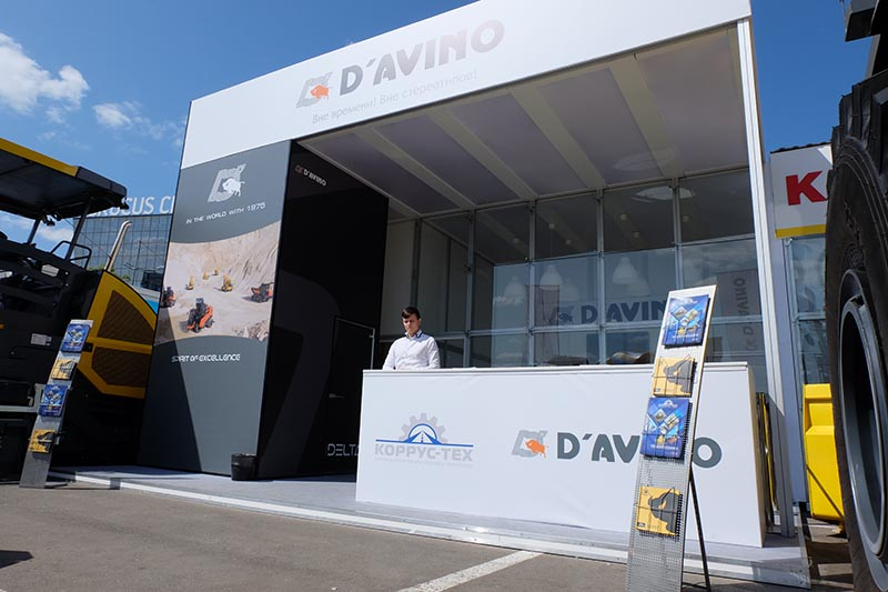 Совместный павильон Компаний Коррус-Тех и D'Avino  на выставке CTT