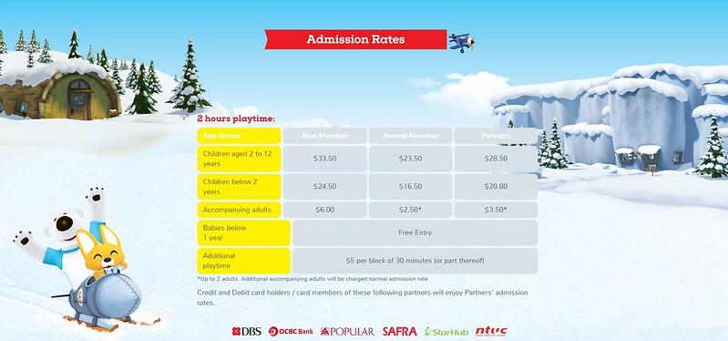 Pororo Park Singapore Admission Rates