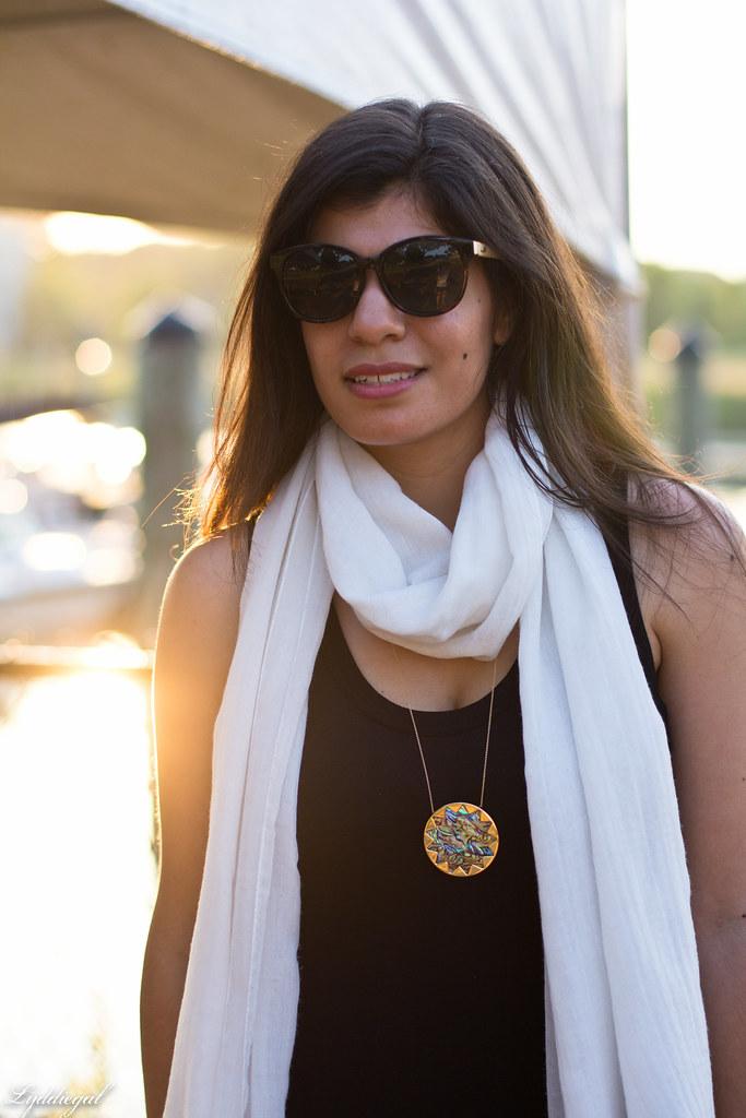 black maxi dress, white scarf, brown leather tote-9.jpg