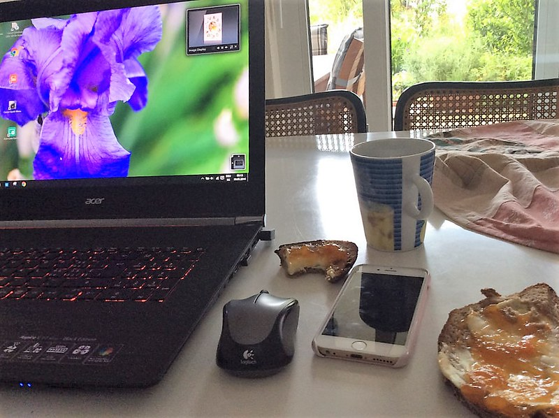 Breakfast and a computer