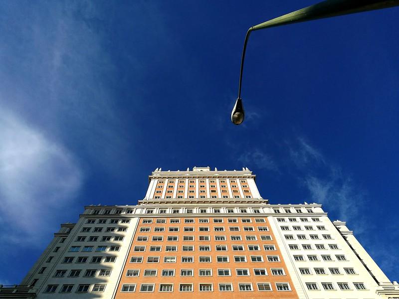 Edificio Plaza de España. Huawei P9