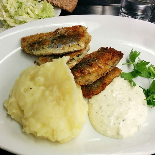 Today's lunch: fried herring (my new favourite fish dish) - back in Hötorgshallen