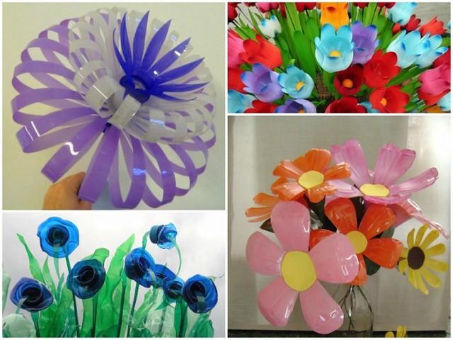 10 Ideas Para Hacer Preciosas Flores Con Botellas De