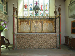 Altar, Sarum screen and reredos by Sir Charles Nicholson, 1920
