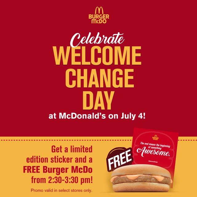 #WelcomeChange McDonalds Blog Blogger Promo Duane Bacon Celebrate