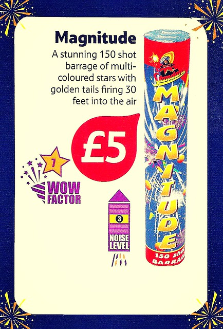 £5 TESCO PRICE - Magnitude Roman Candle by Standard Fireworks