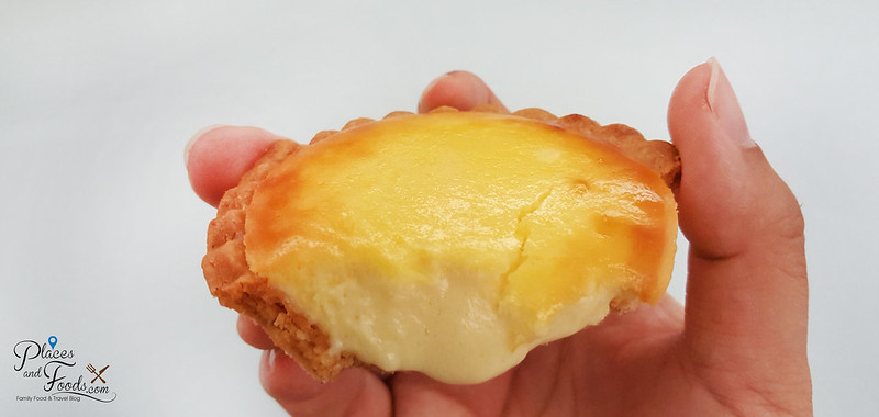 lavender hanjuku melting cheese tart