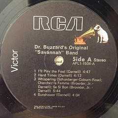 DR. BUZZARD'S ORIGINAL SAVANNAH BAND:S.T.(LABEL SIDE-A)