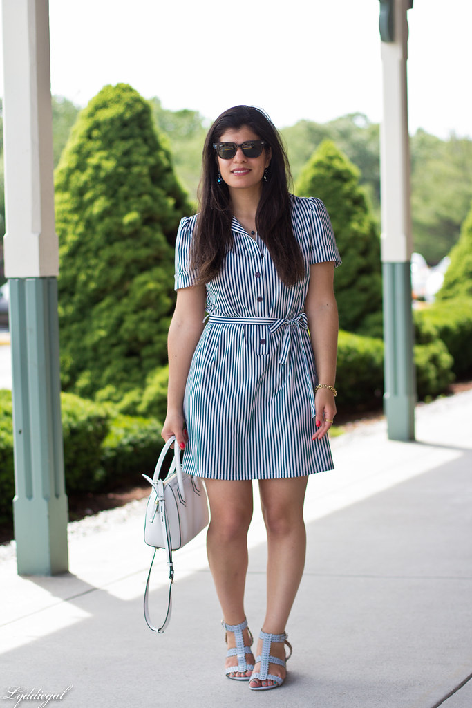 striped shirt dress, blue sandals, white bag-5.jpg