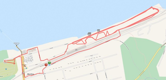 """Today""""s awesome walk, 3.96 miles in 1:31, 9,401 steps"""