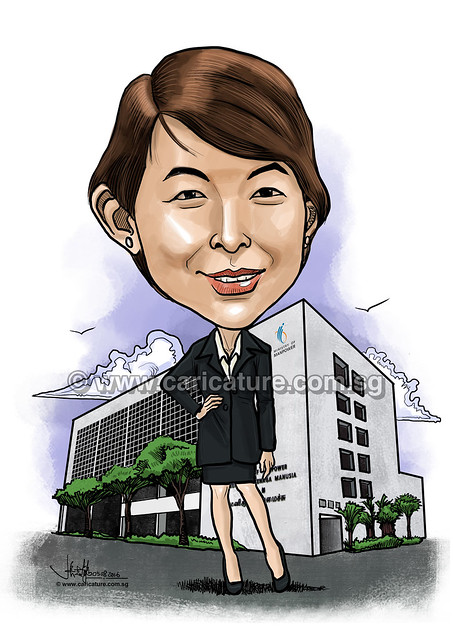 digital caricature for Ministry of Manpower (watermared)