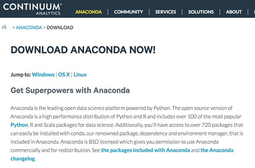 Download Anaconda now! | Continuum_thcue