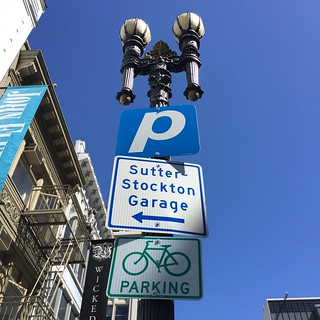 San Francisco sign to Parking Garage June 2016
