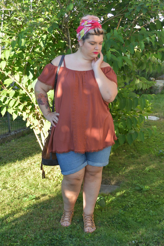 Outfit plus size shorts (2)